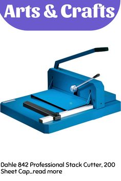 Dahle 842 Professional Stack Cutter, 200 Sheet Capacity, 16-7/8' Cut Length, German Engineered, w/Integrated Safety Features … (This is an affiliate link) #craftsupplies