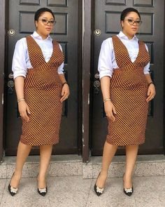 Latest Ankara Dungarees And Pinafore Dress For Women ~ AfroFashionStyle Source by thickyt fashion dress African Print Skirt, African Print Dresses, African Fashion Ankara, Latest African Fashion Dresses, South African Traditional Dresses, Short African Dresses, Shweshwe Dresses, Style Africain, Dress Attire