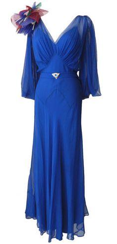 Evening Dress 1930s 1stdibs.com.