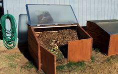 Upcycle An Old Shower Door Into A Compost Bin