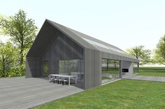 5 Modern Eco-Friendly Prefab Homes You Can Order Right Now – Modern Home Barn House Kits, Modern Barn House, Barn House Plans, Modern House Design, Barn Houses, Shed Design, Cabin Design, Barn Homes For Sale, Contemporary Barn