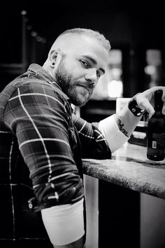 Hairy Bear. Beards. Men. Ink. Photography.