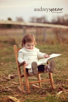 Reading in a rocking chair would be close to quintessentially my daughter.