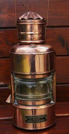 Ships lantern lamp signal AHLEMANN SHLATTER