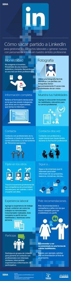 Cómo sacar partido a #Linkedin. #Infografia #MarcaPersonal