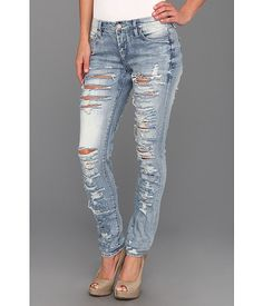 Blank NYC The Skinny Classique Ripped Jean in Riot