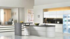 cocina con isla mármol moderna