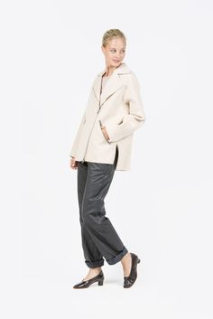 Envier Double Wool Coat, Nougat Beige by Acne Studios | #kickpleat #acnestudios #enviercoat