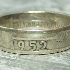 This is a pretty cool idea... a ring made from an old coin.