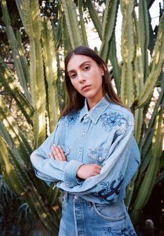Face of the Desert Denim Shirt |  @blissnmischief