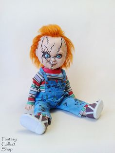 Excited to share the latest addition to my #etsy shop: Chucky OOAK doll with knife Horror figurine Handmade figure Doll with moving parts http://etsy.me/2CXfGw7 #vintage #collectables #blue #red #handmadefigure #doll #interiordoll #chucky #ooak