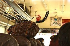 Guatemala - Panajachel - a real chicken bus