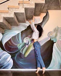 Elegant Wall Art Painting Murals Beautiful Wall Arts Lovely Flower Murals Transform Ordinary Rooms into Spaces Mural Wall Art, Mural Painting, Paintings, Street Mural, Street Art, Flower Mural, World Water, Wall Drawing, Arte Floral