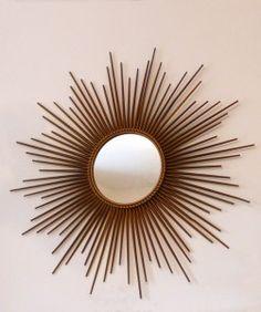 Miroir oeil de sorci re soleil vintage design miroirs - Miroir soleil chaty vallauris ...