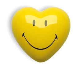 Acid house ceramic smiley heart