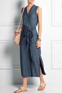 Madewell - Denim wrap dress Blue denim Concealed snap fastening at front cotton Machine wash Mode Outfits, Dress Outfits, Casual Dresses, Casual Outfits, Fashion Dresses, Summer Dresses, Wrap Dress Outfit, Easy Dress, Modest Fashion