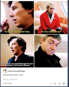 """""""You've been reading John's blog... The story of how you met"""" 