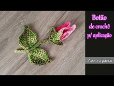 Floral, Flowers, Youtube, Rose Buds, Crochet Leaves, Crochet Appliques, Simple, Crochet Crafts, Knitting