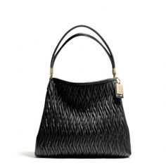 NWT AUTH COACH MADISON  PHOEBE GATHERED TWIST LEATHER BLACK BAG 26257 Limited