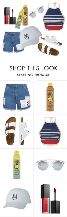 """4th of July outfit"" by jadaramseyy on Polyvore featuring House of Holland, Forever 21, TravelSmith, Vika Gazinskaya, Christian Dior and Smashbox"