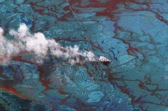 6 Horrible Oil Spills Since Deepwater Horizon That You Probably Didn't Hear About A look at some major oil spills around the world in the four years since the BP disaster.(Photo: DigitalGlobe via Getty Images) Tectonique Des Plaques, Globe Image, Deepwater Horizon, Bp Oil, Oil Spill, Deep Water, Gulf Of Mexico, Girl Humor, Aerial View
