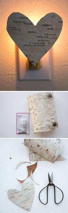 DIY Birch Bark Nite Light