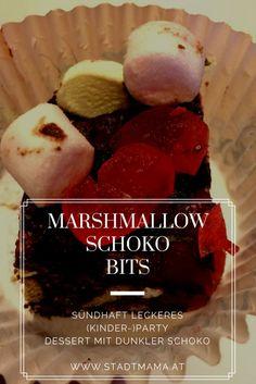 DAS Schoko Dessert für die Kinderparty und das beste Marshmallow Rezept ever: die Schoko-Marksmallow-Bits sind superschnell gemacht und kommen immer gut an. Bei Kindern und Erwachsenen. Achtung, Suchtfaktor!