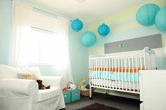 babyzimmer dekorieren ideen papierlaternen gemälden