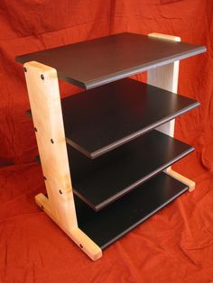 Up for your consideration is this custom audio rac Hifi Stand, Audio Stand, Speaker Stands, Audio Rack, Stereo Cabinet, Rack Design, Hifi Audio, Wooden Shelves, Shelving