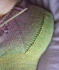 Deze beschrijving van de Hollandse hiel geldt alléén voor Toe-up sokken op een rondbreinaald! Spie Wanneer de gewenste lengte...