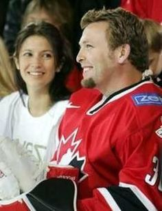 Martin Brodeur with his wife, Genevieve Nault