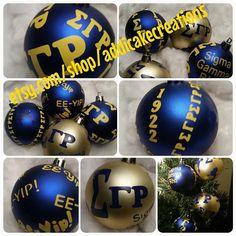 Sigma Gamma Rho ornaments
