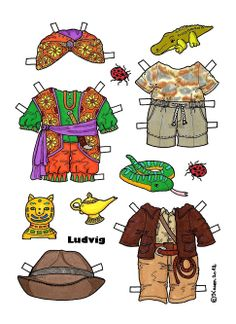 ludvig 1500 free paper dolls at Arielle Gabriel's International Paper Doll Society