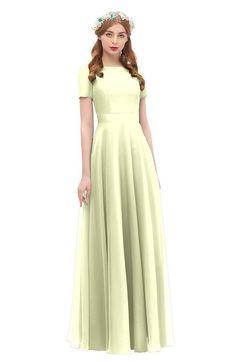 dd0e54e77b ColsBM Morgan - Anise Flower Bridesmaid Dresses. ColsBM Morgan Anise Flower Bridesmaid  Dresses Zip up A-line Traditional Sash Bateau Short Sleeve