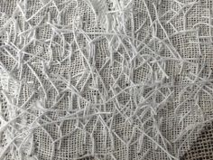 Deconstructed Stitching with heavy thread & cut stitches to create texture; experimental embroidery; textile manipulation // Ann Rippin