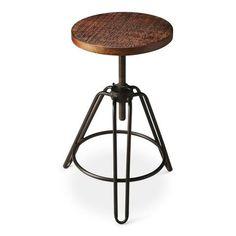 Butler Specialty Furniture 2050025 Trenton Modern Round Revolving Bar Stool Multi-Color