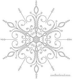 Snowflake Hand Embroidery Pattern Mandala: