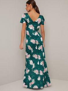 Split Legs, Floral Print Maxi Dress, Chi Chi, Flutter Sleeve, Catwalk, Beautiful Dresses, Looks Great, Casual Dresses, Floral Prints