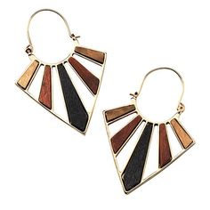 These brass and wooden earrings make the perfect summer statement.$18 Buy Avon Online www.youravon.com/adavis0493