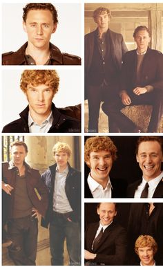 "Tom Hiddleston and Benedict Cumberbatch. On my iPod, ""Hiddles"" autocorrects to Hiddleston and ""Cumber"" autocorrects to Cumberbatch. Isn't that awesome???"