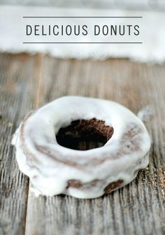Old Fashioned Baked Chocolate Doughnuts - Yummy!