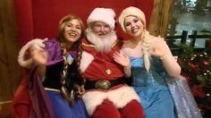 Feliz Natal! Com Anna, Papai Noel e Elsa.