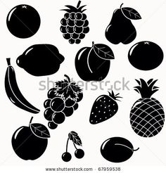Find Fruits Silhouettes Set 13 Fruits Vectors stock images in HD and millions of other royalty-free stock photos, illustrations and vectors in the Shutterstock collection. Thousands of new, high-quality pictures added every day. White God, Black And White Baby, Fruit Vector, Logo Food, Stock Foto, Cute Drawings, Icon Set, Amazing Photography, Illustration