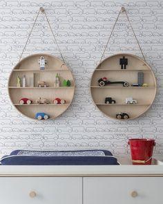 Kids room - Sissy+Marley - selected by La Chaise Bleue Kids Wallpaper, Bathroom Wallpaper, Kids Bedroom, Bedroom Decor, Car Bedroom, Kids Rooms, Boy Rooms, Modern Kids, Kids Prints