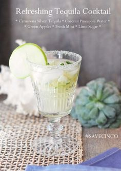 refreshing tequila cocktail recipe details
