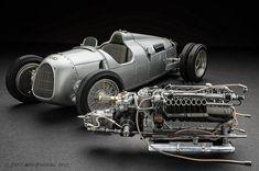 1936 Auto Union Type C hillclimb Vintage Racing, Vintage Cars, Antique Cars, Road Race Car, Race Cars, Automobile, Vintage Porsche, Sports Car Racing, Audi Sport
