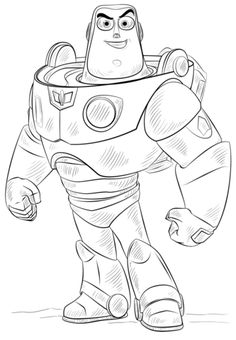 Buzz Lightyear coloring page from Toy Story category. Select from 24848 printable crafts of cartoons, nature, animals, Bible and many more.