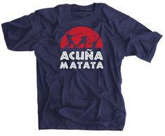 size 40 7c254 4c1c7 Acuña Matata Baseball Shirt