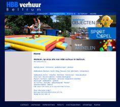 De website van André Berentsen voor de verhuur van diverse opblaas objecten en feest-, sport- en spelartikelen.  http://www.hbbverhuur.nl