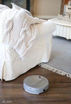 How I keep my Dark Floors Clean- Robotic Vacuum Review http://www.ellaclaireinspired.com/how-to-clean-dark-floors-robotic-vacuum-review/